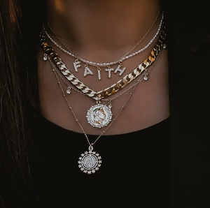 """Collier """"WORD"""" ARGENT personnalisable"""