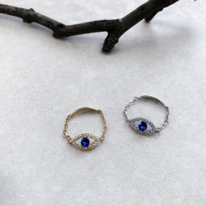 "BAGUE ""EYE BLUE"""